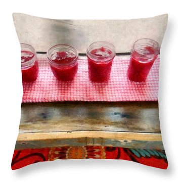 Putting Up Preserves Throw Pillow by Michelle Calkins