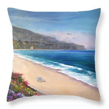Throw Pillow featuring the painting P.v. View by Jennifer Beaudet
