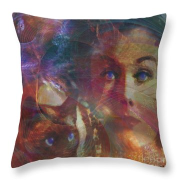 Pyewacket And Gillian - Square Version Throw Pillow by John Beck