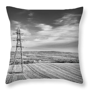 Throw Pillow featuring the photograph Pylon Landscape. by Gary Gillette