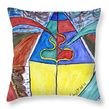 Pyramid Base Throw Pillow by Stormm Bradshaw