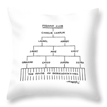 Pyramid Club Throw Pillow
