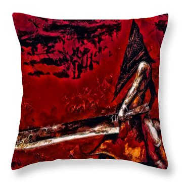 Pyramid Head Throw Pillow by Joe Misrasi