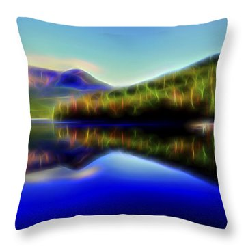 Throw Pillow featuring the digital art Pyramid Mirror 1 by William Horden