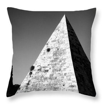 Pyramid Of Cestius Throw Pillow by Fabrizio Troiani