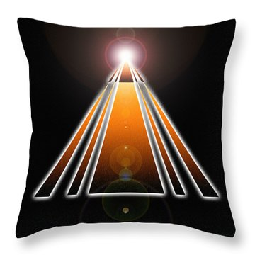 Pyramid Of Light Throw Pillow by Derek Gedney