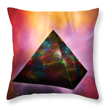 Pyramid Of Souls Throw Pillow