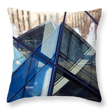Pyramid Skylights Throw Pillow by Stuart Litoff