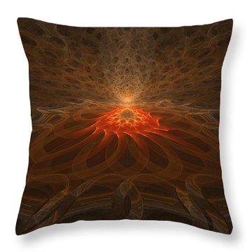 Pyre Throw Pillow by GJ Blackman