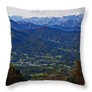Pyrenean View Throw Pillow