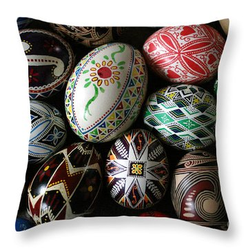 Pysanky Throw Pillow by E B Schmidt