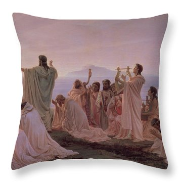 Pythagoreans' Hymn To The Rising Sun Throw Pillow by Fedor Andreevich Bronnikov