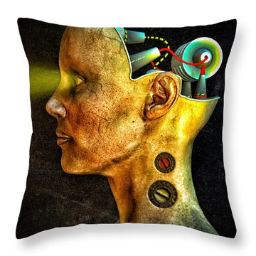 Pythia Throw Pillow by Bob Orsillo
