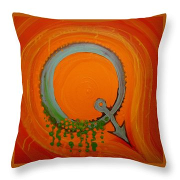 Quirky Q Throw Pillow by Douglas Fromm