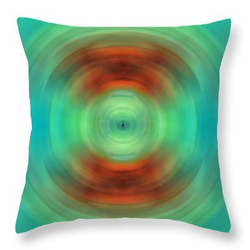 Qi - Energy Art By Sharon Cummings Throw Pillow by Sharon Cummings