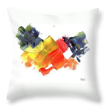Quack Quack Abstract Duck Throw Pillow