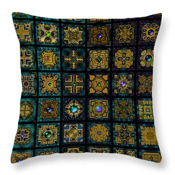 Quadtiles One Dingbat Quilt Throw Pillow