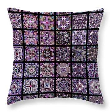 Quadtiles Three Dingbat Quilt Throw Pillow