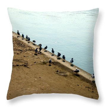 Quai Des Mouettes Throw Pillow
