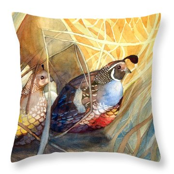 Quail Throw Pillow