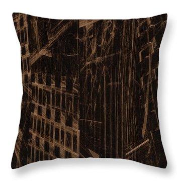 Throw Pillow featuring the digital art Quake - Ground Zero by GJ Blackman
