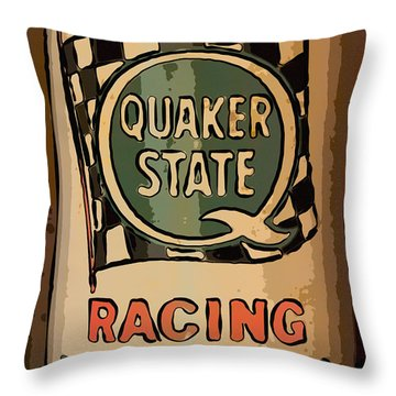 Quaker State Oil Can Throw Pillow