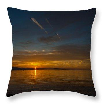 Qualicum Sunset II Throw Pillow by Randy Hall