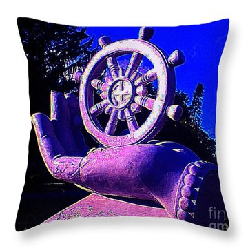 Buddhist Dharma Wheel 2 Throw Pillow