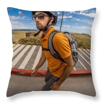 Quando Cansar Nao Para Throw Pillow