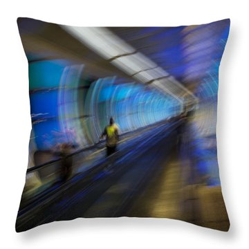 Throw Pillow featuring the photograph Quantum Tunneling by Alex Lapidus