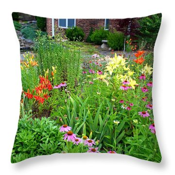 Throw Pillow featuring the photograph Quarter Circle Garden by Kathryn Meyer