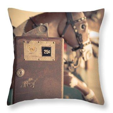 Quarter Horse Throw Pillow by Edward Fielding