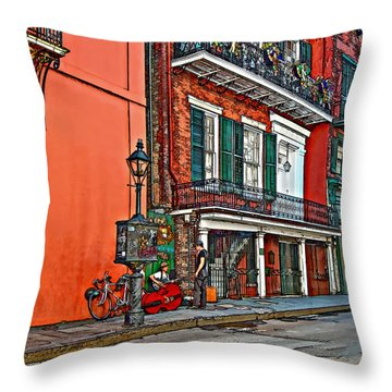 Quarter Time Painted Throw Pillow by Steve Harrington