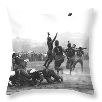 Quarterback Throwing Football Throw Pillow