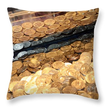 Quarters In An Arcade Game Throw Pillow