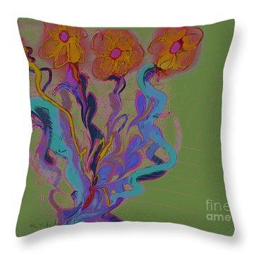 Throw Pillow featuring the digital art Quartet by Gabrielle Schertz