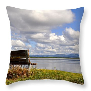 Throw Pillow featuring the photograph Quartz Lake by Cathy Mahnke