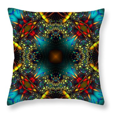 Quasar Kaleidoscope No 1 Throw Pillow