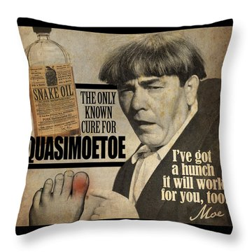 Quasimoetoe Poster Throw Pillow