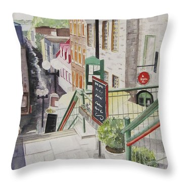 Quebec City Throw Pillow by Carol Flagg