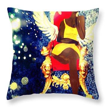 Queen Angel Throw Pillow