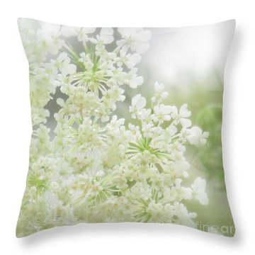 Queen  Anne Lace Throw Pillow by France Laliberte