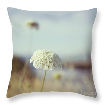 Queen Anne's Lace - Hipster Photo Square Throw Pillow