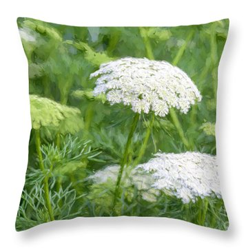 Queen Anne's Lace Impressions Throw Pillow