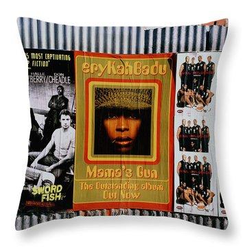 Queen Badu Throw Pillow