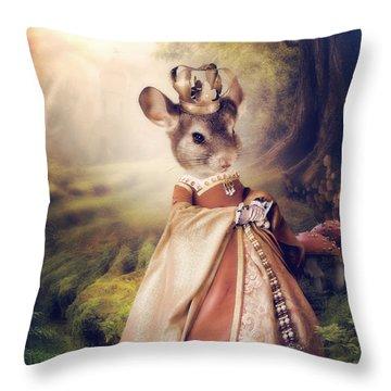 Queen Throw Pillow by Cindy Grundsten