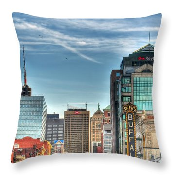 Queen City Downtown Throw Pillow