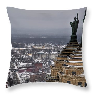 Queen City Winter Wonderland After The Storm Series 0013 Throw Pillow