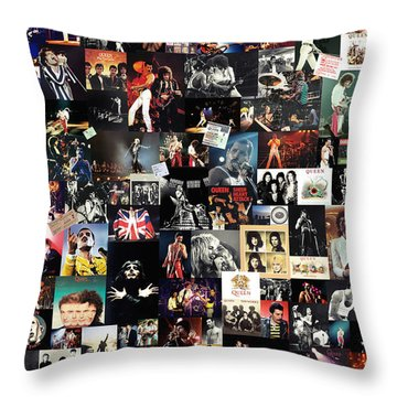 Queen Collage Throw Pillow