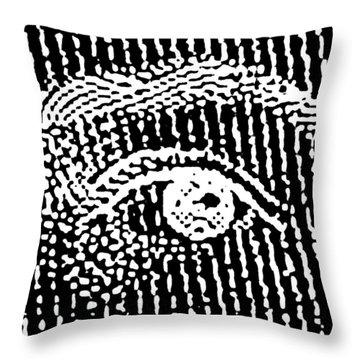 Queen Elizabeth's Eyes Throw Pillow